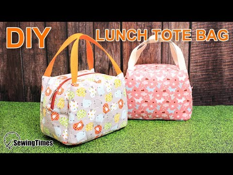 DIY Lunch Tote Bag 도시락 가방만들기 | Weekend Picnic Hand Bag Tutorial [sewingtimes]
