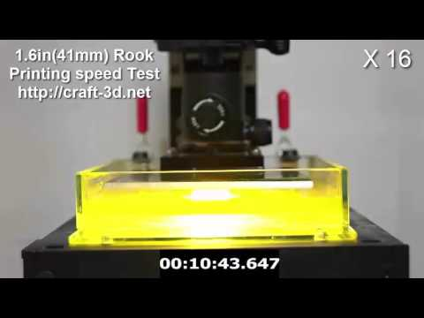 Amazing Printing Speed ( 3.8in/hr ), iNTEGRATOR DLP 3D Printer
