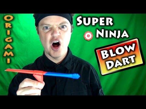 Origami Super Ninja Blow Dart