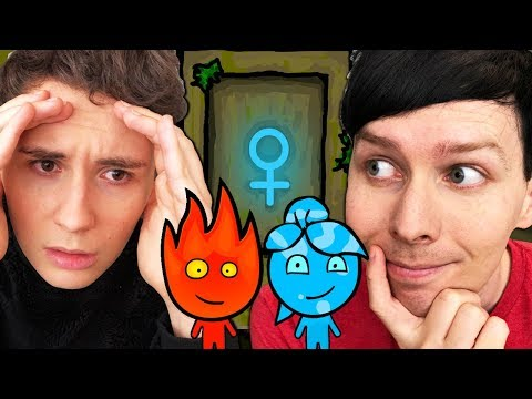 Thumbnail: NO MORE LADYDOOR - Dan and Phil play: Fireboy and Watergirl #2!