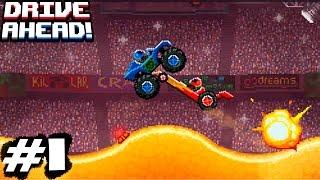 DRIVE AHEAD #1 Драйв Ахед Битви на крутих аренах.Ігровий мультик про машинки гонки змагання бої