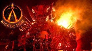 Wicker Man Roller Coaster Media Night Off Ride POV Shots Fire Effects Alton Towers UK