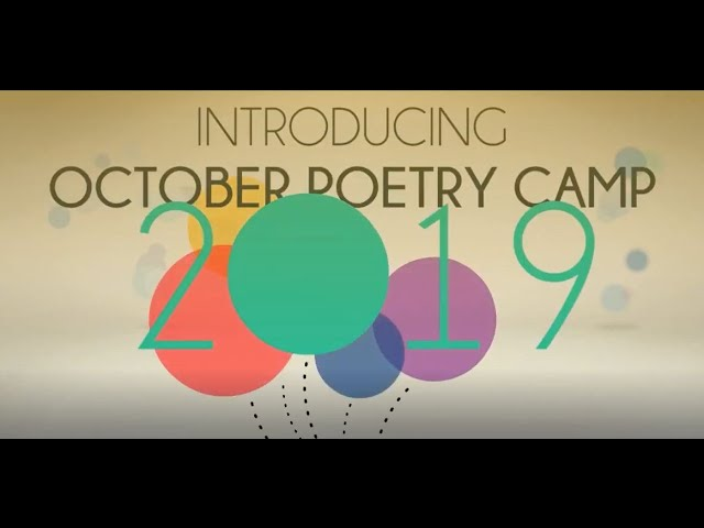 October poetry camp