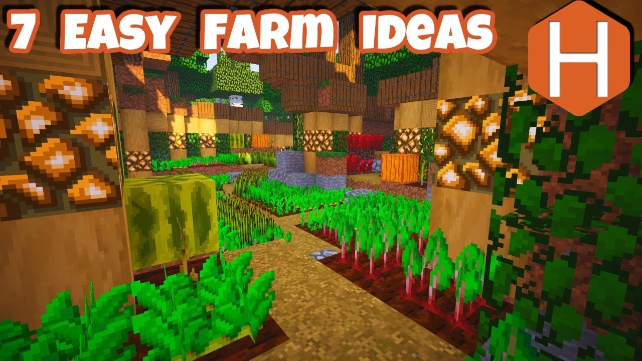 7 easy farm design ideas Minecraft Inspiration - YouTube