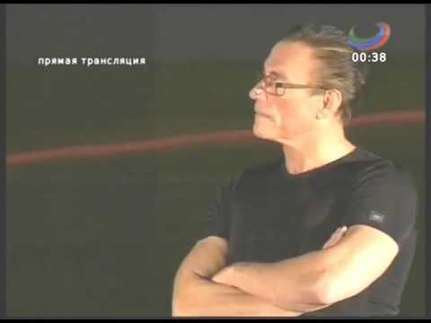 Van Damme and Michel Qissi in Dagestan  Live at The Anzhi stadium 2013