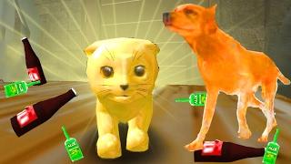 Играем в СИМУЛЯТОР КОТА 🐱🐱🐱 #14 мульт-игра про котят развлекательное видео