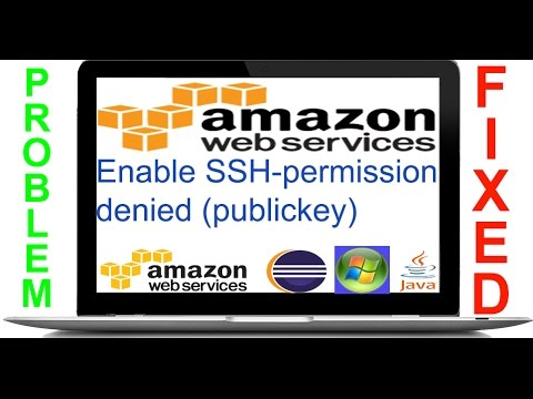 Amazon EC2 Instance Enable SSH - permission denied (publickey) solved