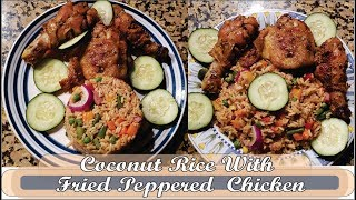 How to make coconut rice with peppered chicken recipe