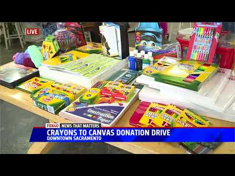 Crayons to Canvas Art Supply Donation Drive