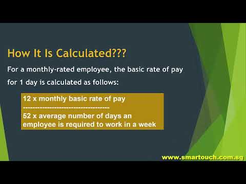 Singapore Payroll : Employment Practices - Monthly and Daily Salary Calculations