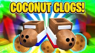 Buying the NEW COCONUT CLOGS In Roblox Bee Swarm Simulator