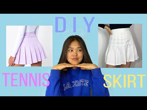 ТЕННИСНАЯ ЮБКА 💗 своими руками 🌿 DIY tennis skirt 😍