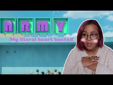 BTS Boy With Luv feat. Halsey Official MV ('ARMY With Luv' ver.) REACTION (BTS REACTION)