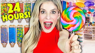 Download lagu Sneaking Into A Giant CANDY STORE for 24 Hours - Rebecca Zamolo
