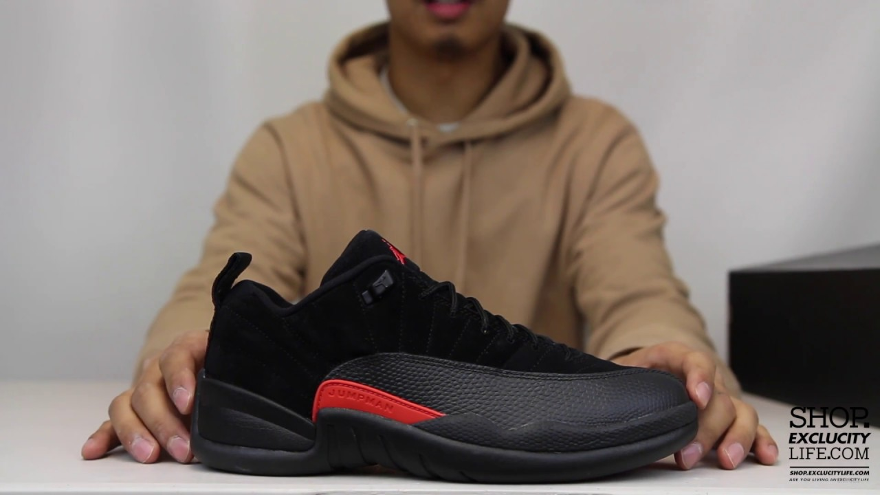 the latest 86ecb 2a740 Air Jordan 12 Retro Low Black Max Orange Unboxing Video at Exclucity