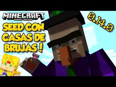 Minecraft PE 0.14.0 Build 1 - Seed con Casas de Brujas - Seeds para Pocket Edition