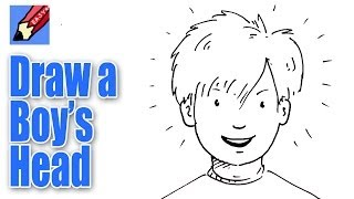 draw boy face drawing easy boys simple kid cartoon sketches anime drawings faces step clipart sketch young arts pencil famous
