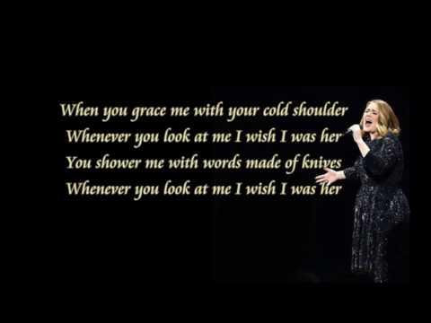 Adele cold sholder lyric