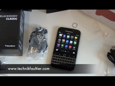 BlackBerry Classic einrichten und erster Eindruck