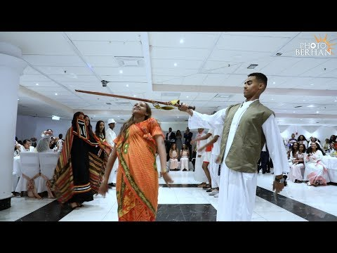 Eritrean`s 9 ethnic groups dance on a Wedding