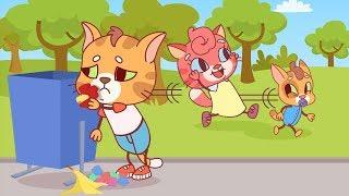Cat Family | Cartoon for Kids | New Full Episodes #25 - Do Not Litter