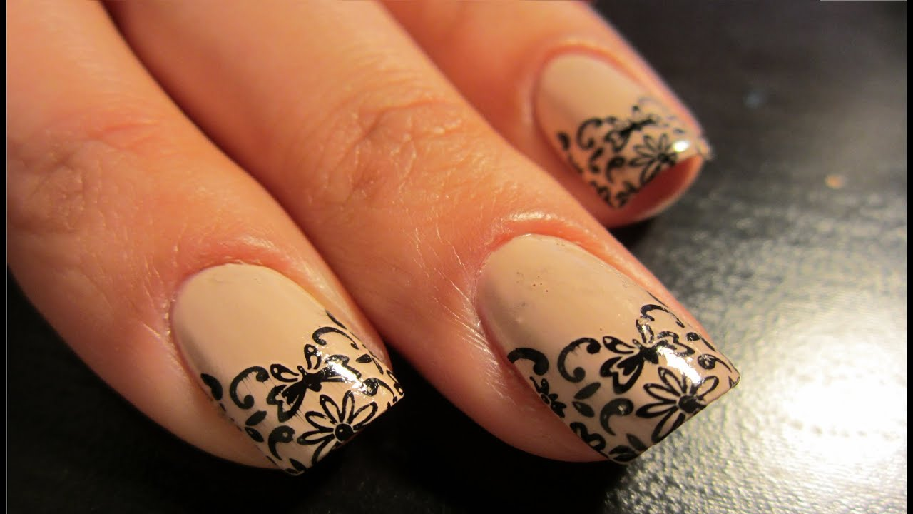 Konad Stamping Nail Art Tutorial -- Elegant Eye Catching Nails Using ...