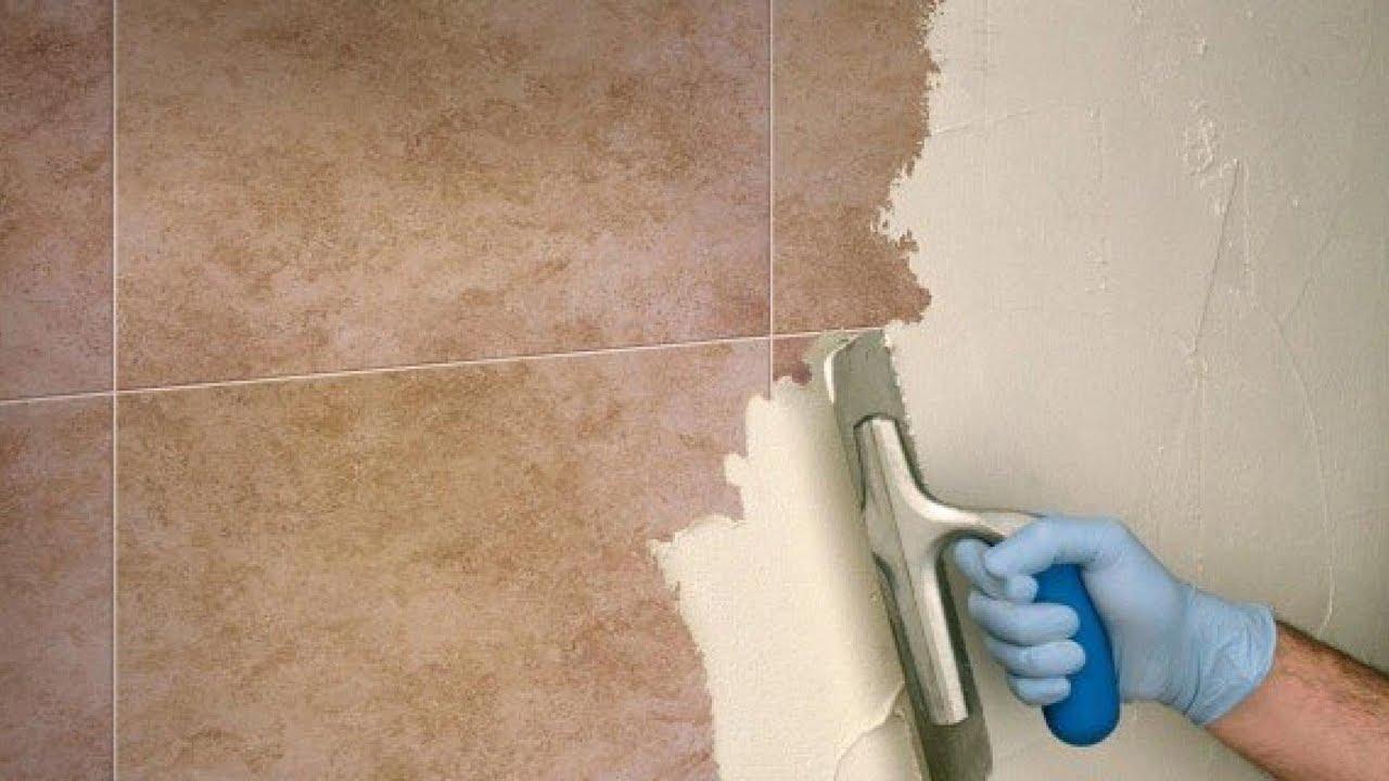 Rinnovare le pareti di bagno e cucina senza rimuovere le piastrelle to renew tiles youtube - Pareti bagno senza piastrelle ...