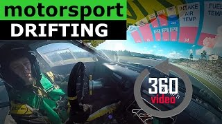 360° Drifting | Motorsport Drifting  -  with HUD generated from engine data - Virtual Reality