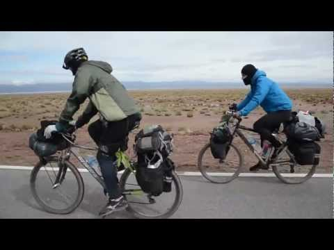 Crossing a Salt-desert at 4200m on the bicycle - northern Argentina - This is Why We Travel