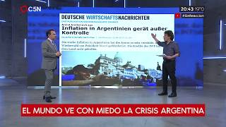 El mundo ve con miedo la crisis argentina asi lo reflejan los medios globales