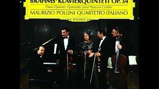 Brahms Quintetto per Pianoforte e Archi in Fa Minore Op 34 Quartetto Italiano, Pollini