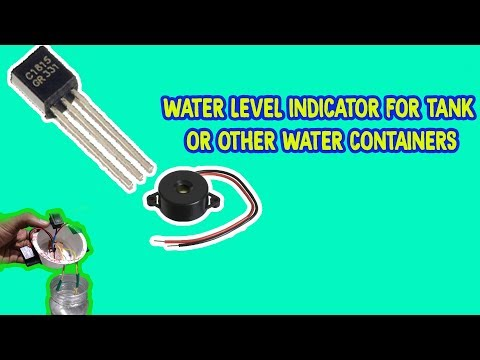 WATER LEVEL INDICATOR | USING TRANSISTOR C1815 | ELECTRONIC MINI PROJECT | CREATIVE BEINGS