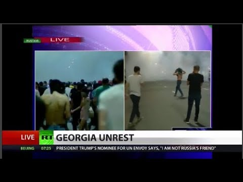 WATCH: Ruptly photographer shot as riots break out in Georgia