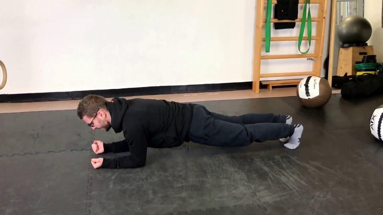 Mein Top 4 Übungen gegen Rückenschmerzen - Plank - YouTube