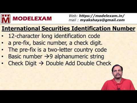 NISM DOCE - International Securities Identification Number