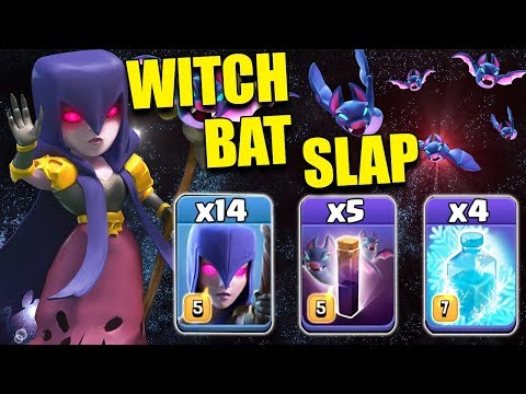 NEW WITCH FREEZE BAT SLAP 2019! 14 Max Witch 5 Max Bat Spell 4 Max Freeze spell | Clash of Clans