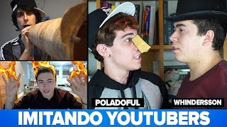 IMITANDO YOUTUBERS Ft Whindersson e Mr Poladoful thumbnail