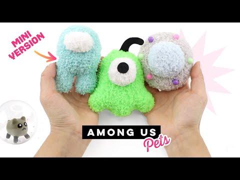 DIY Among Us Pet Plushies! Mini Crewmate, Hamster, Brain Slug & UFO