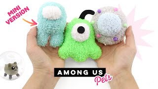 DIY Among Us Pet Plushies! Mini Crewmate, Hamster, Brain Slug &amp UFO