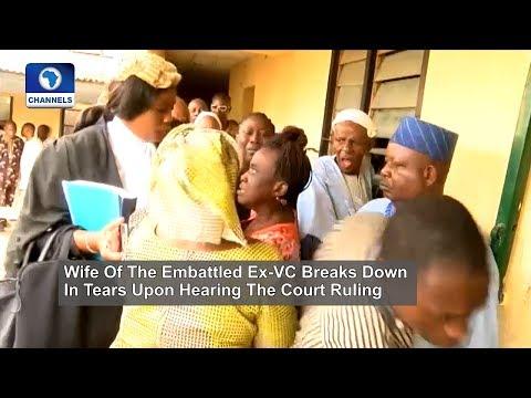 Ex OAU VC's Arraignment: Wife Breaks Down In Tears