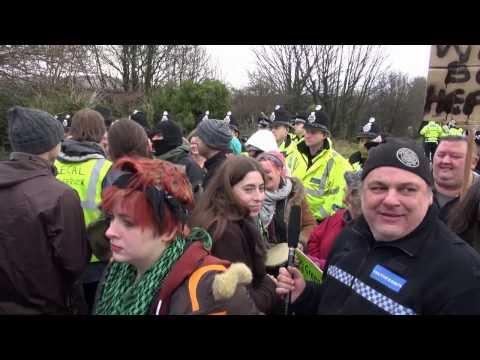BARTON MOSS FRACKING PROTEST HEATS UP !  PT 3 FRIDAY 13TH  Truthferretfilms .