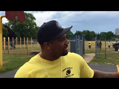 LaMarr Woodley celebrates 11th year of free football camp in Saginaw
