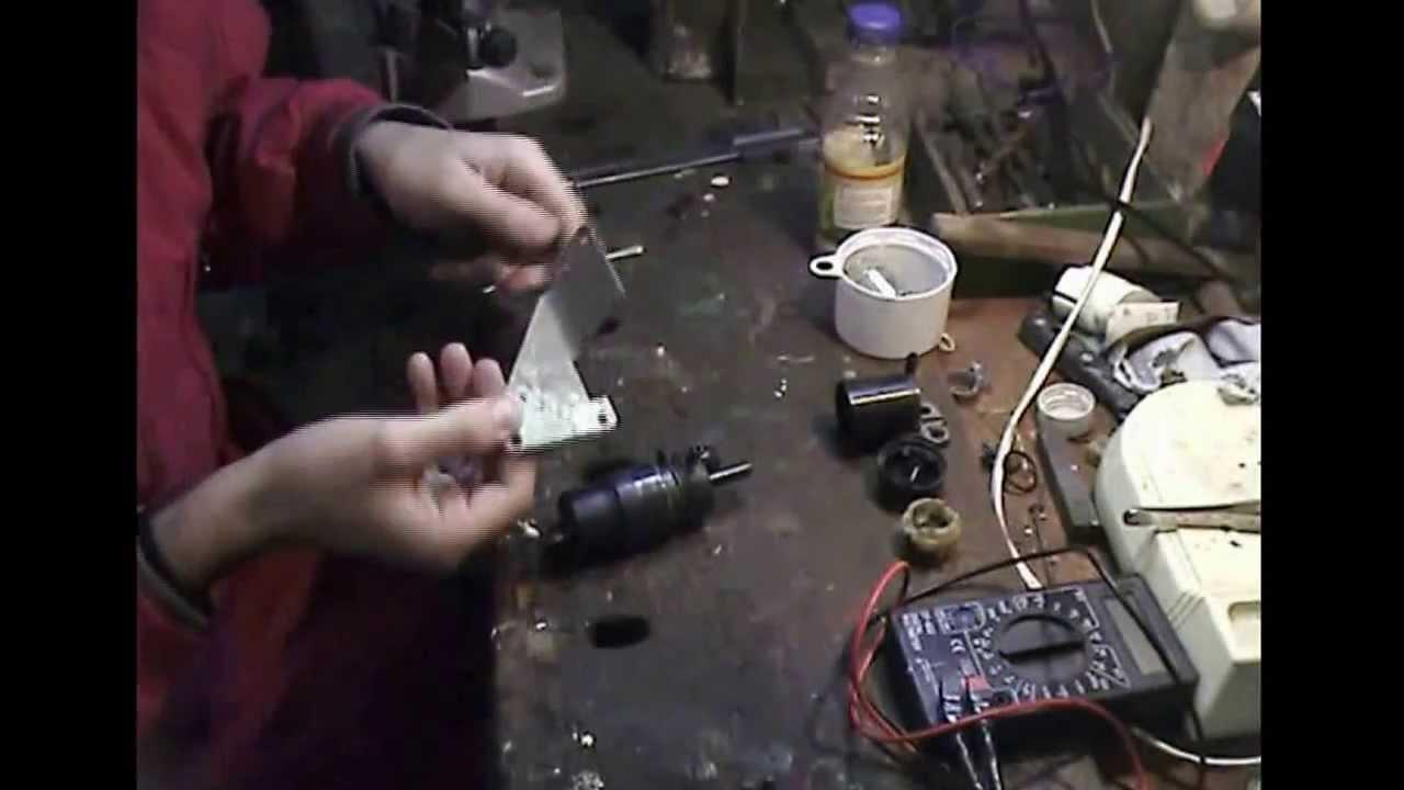 Ремонт насоса омывателя ЗАЗ - 1103