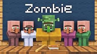 Zombie vs Villager Life 1 - Alien Being Minecraft Animation