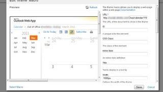 календарь из Outlook на сайт