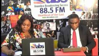 Director Nigerian Communications Commission (NCC) on a talk show at ABS
