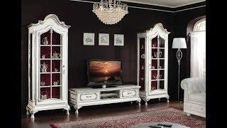 ВИТРИНА ДЛЯ ПОСУДЫ в зале, гостиной. Шкаф со стеклом, угловая стеклянная мебель. Идеи дизайна