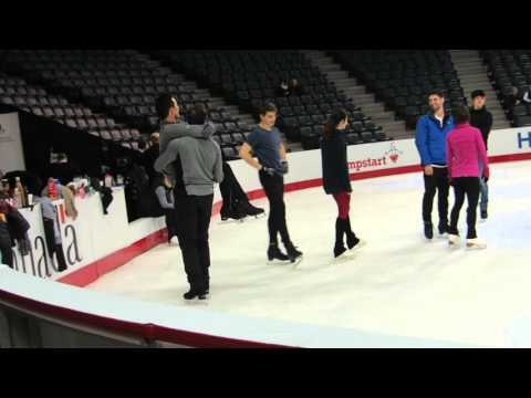 Patrick Chan Dylan Moscovitch Gala Practice 2016 Nationals