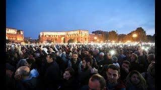 Live. Public Rally W/English Translation and Summary - Republic Sq. Yerevan, Armenia