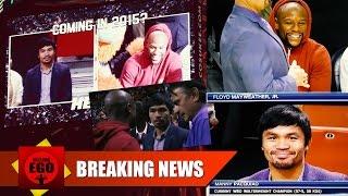 FLOYD MAYWEATHER & MANNY PACQUIAO AT MIAMI HEAT GAME, FACE-TO-FACE SAME BUILDING!!! COINCIDENCE?
